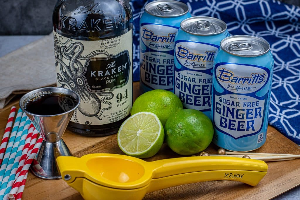 The Keto Kraken AKA Dark & stormy ingredients