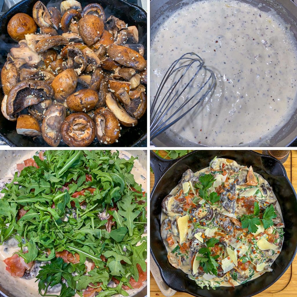how to make low carbCreamy Parmesan & Prosciutto Mushrooms
