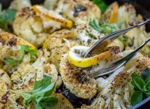 Cauliflower Piccata with Lemon Caper Butter Sauce
