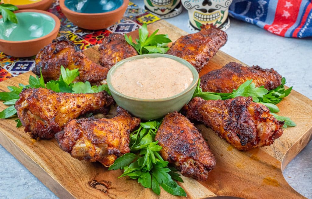 keto wings chili rubbed wings with chipotle ranch dressing