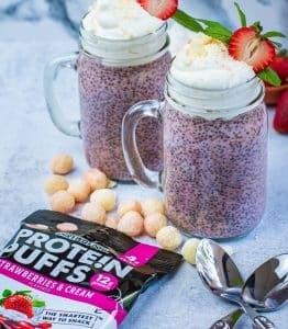 Keto Strawberry Crunch Chia Pudding