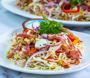 Keto Italian Hoagie Coleslaw Recipe
