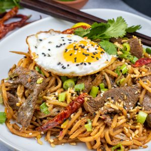 Keto Beef Lo Mien with Palmini Noodles Hearts of palm