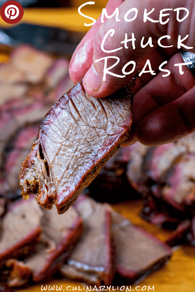 Smoked chuck roast on a camp chef pellet grill