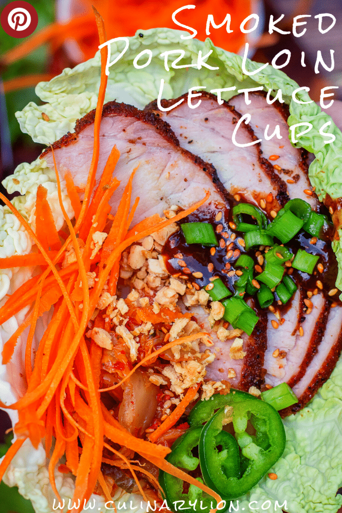 smoked pork loin asian lettuce cups, Keto low carb recipe