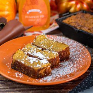 Keto Bourbon Butter Pumpkin Bread