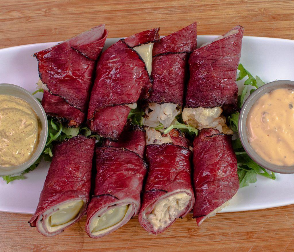 pastrami roll ups keto appetizer