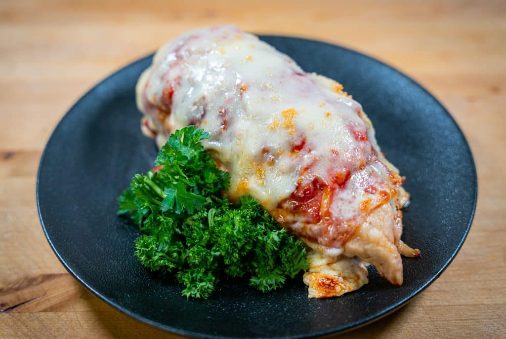stuffed chicken Parmesan oven baked with prosciutto