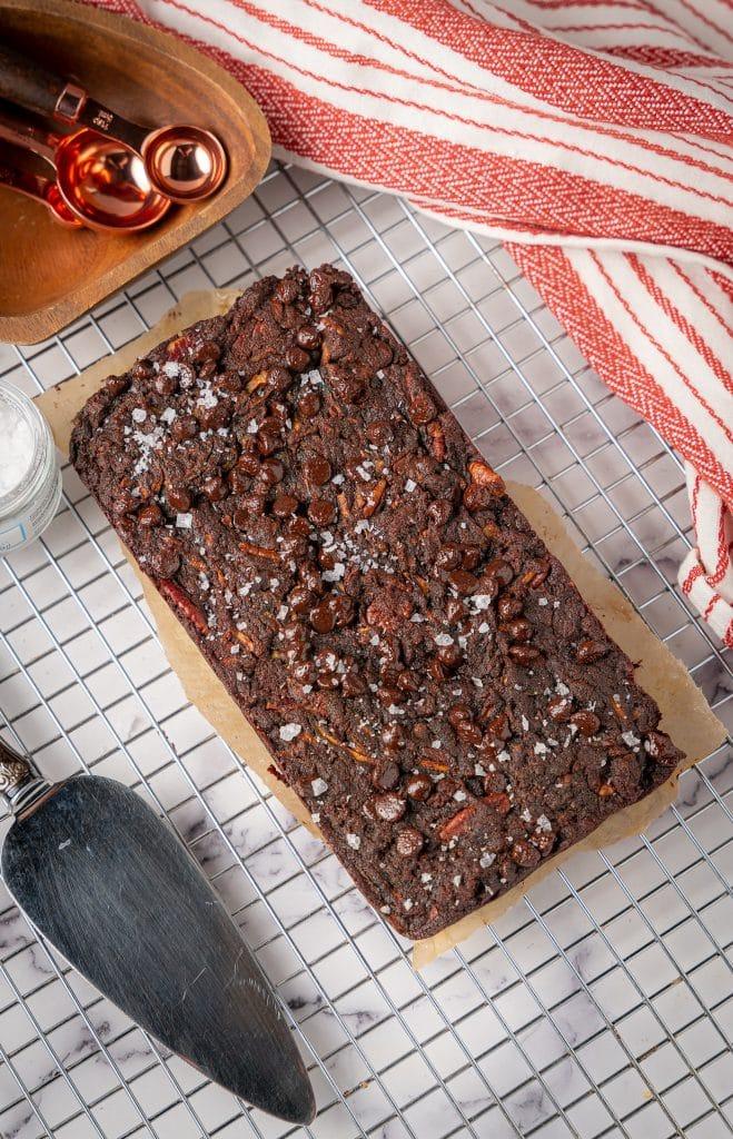 keto chocolate pecan zucchini bread