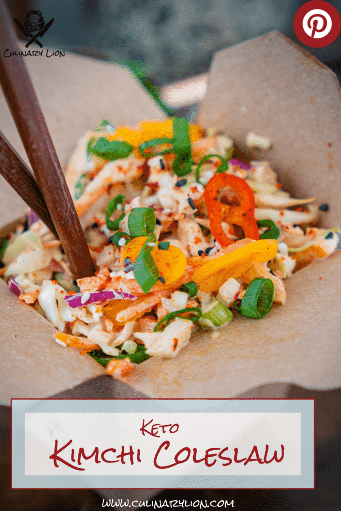 keto kimchi coleslaw pinterest pin