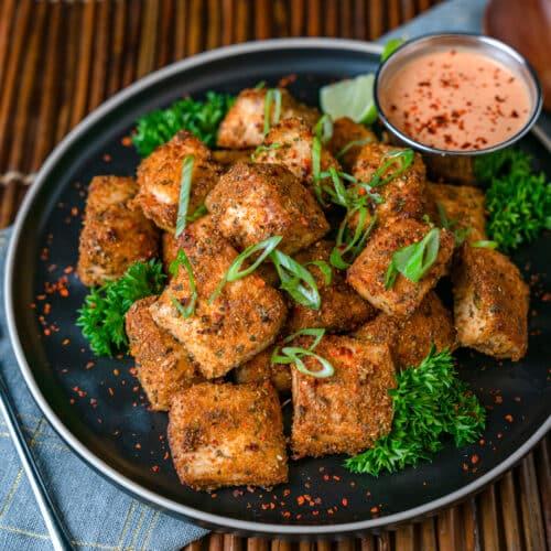 air fryer maki maki bites keto recipe with bang bang dipping sauce sugar free
