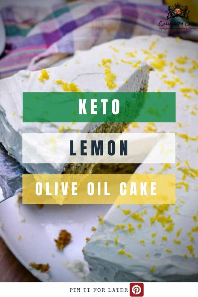 Lemon zucchini olive oil cake with limoncello frosting