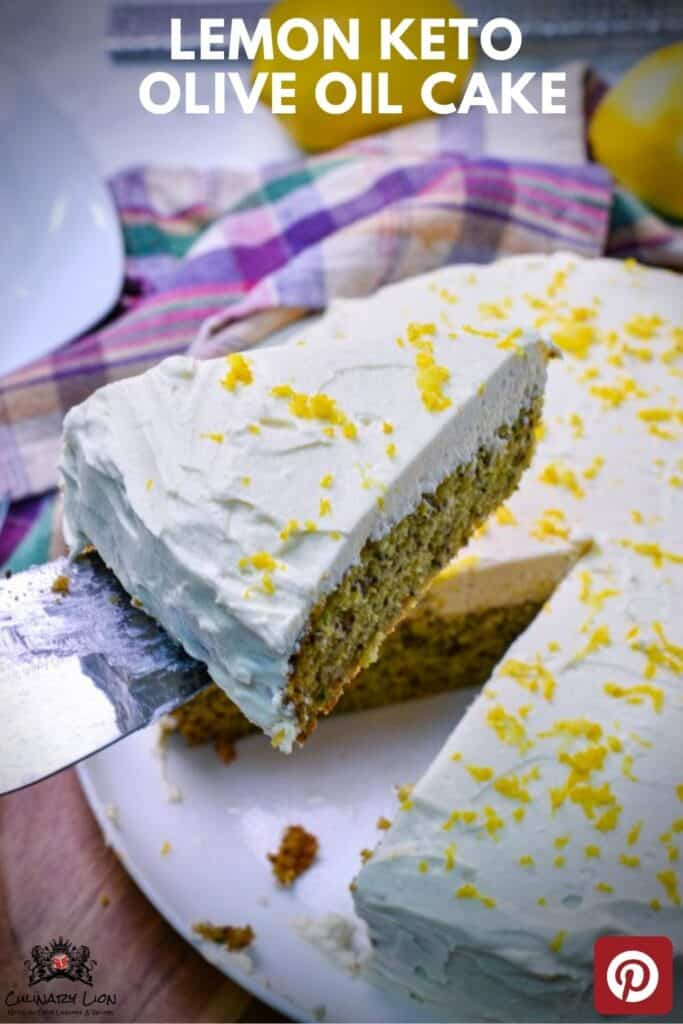 Keto Olive oil cake with lemon and zucchini and Limoncello frosting